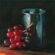 Grapes-silver-cup