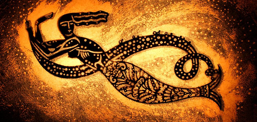 Mermaid artwork by Howard moses